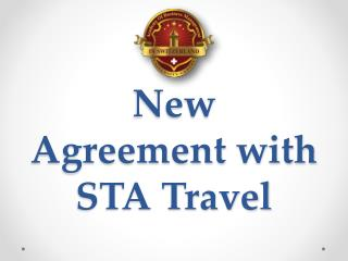 New Agreement with STA Travel