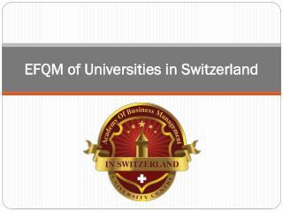 EFQM of Universities in Switzerland