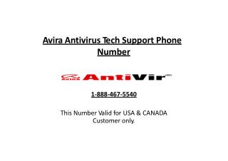 1-(888)-467-(5540) Avira Antivirus Tech Support Phone Number