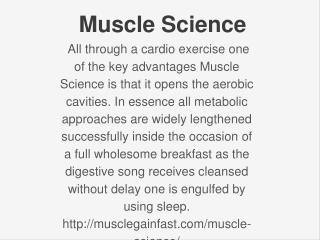 Muscle Science