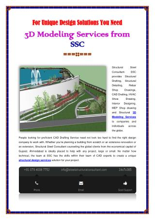 Structural 3D Modeling Services Company
