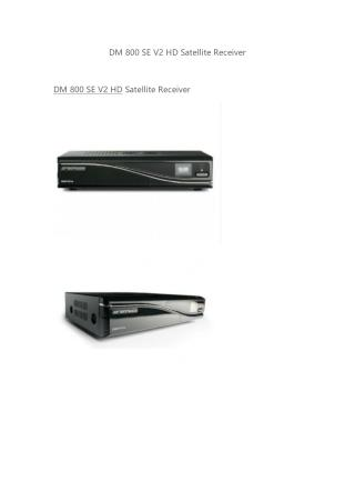 Dreambox DM 800 SE V2 HD WITH SIM 2.2 Card DVB-S2 Tuner HDMI USB eSATA
