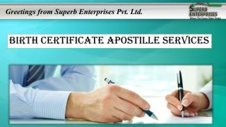 Birth Certificate Apostille Stamp Services