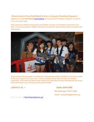Hometeamns,Team BuildingActivities, Company Bonding Singapore