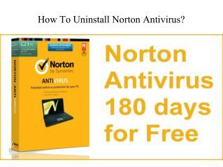 How to uninstall norton antivirus ?