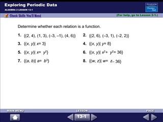 Exploring Periodic Data