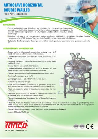 Horizontal Autoclave - By Tanco Autoclave - Manufacturer - Supplier -  India