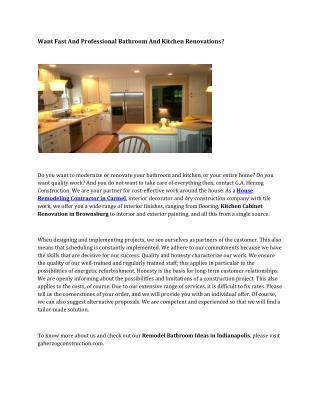 Kitchen Redesign Ideas Zionsville