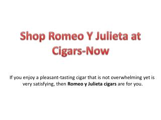 Buy Romeo Y Julieta Cigars