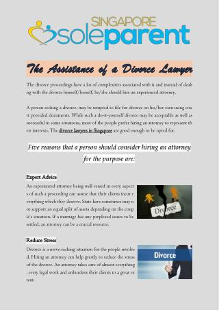 The Assistance of A Divorce Lawyer