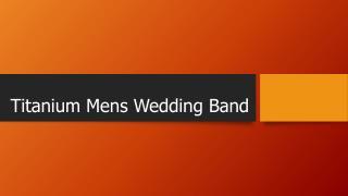 Titanium Mens Wedding Band