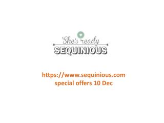 www.sequinious.com special offers 10 Dec