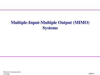 MIMO-1
