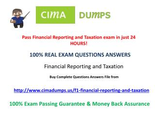 Cimadumps.us | CIMA F1 Dumps Exam Engine Questions