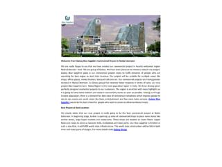 Welcome From Galaxy Blue Sapphire Commercial Project In Noida Extension