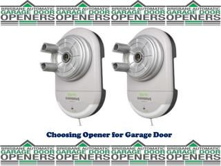 Choosing Opener for Garage Door