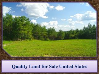 Quality Land for Sale United States