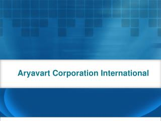 Aryavart Corporation International - Role of Naval Architect