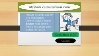 Why should we choose pressure washer