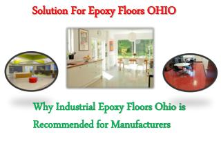 Solution For Epoxy Floors OHIO