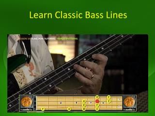 Learn Classic Bass Lines