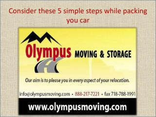 Consider these 5 simple steps while packing you car
