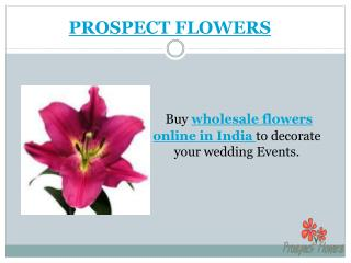 Best Wholesale Wedding Flowers Delivery in India | Prospect Flowers