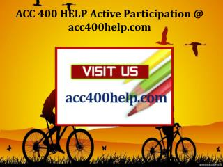 ACC 400 HELP Active Participation / acc400help.com