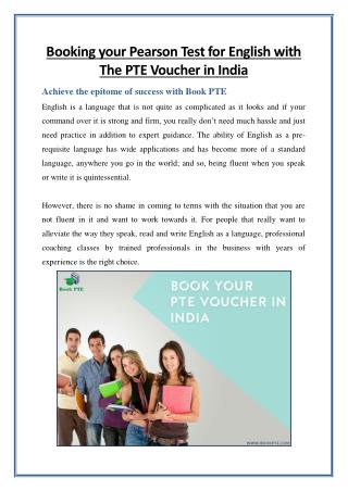 Book Your Pearson Test for English with The PTE Voucher