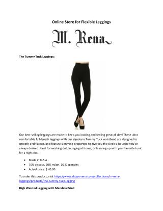 Online Store for Flexible Leggings