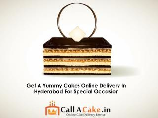 Get A Yummy Cakes Online Delivery In Hyderabad For Special Occasion