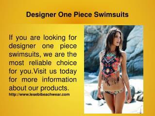 Designer One Piece Swimsuits