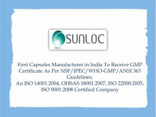 Why Sunil Healthcare Limited Is The Best HPMC Capsules Manufacturer