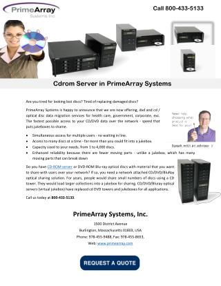 Cdrom Server in PrimeArray Systems