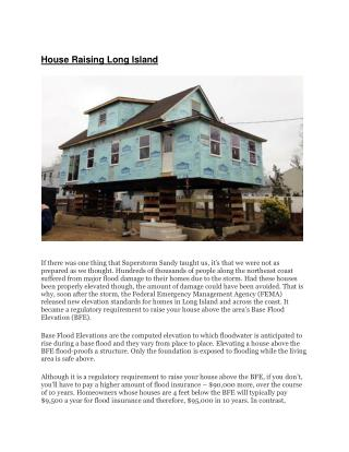 House Raising Long Island