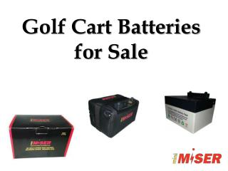 Golf Cart Batteries for Sale