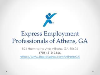 Express Employment Professionals of Athens, GA