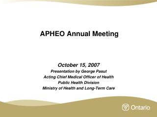 APHEO Annual Meeting