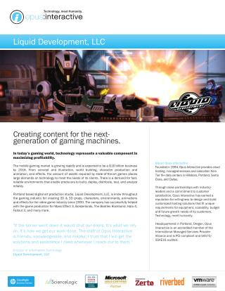 Creating content for the nextgeneration of gaming machines    Opus Intractive