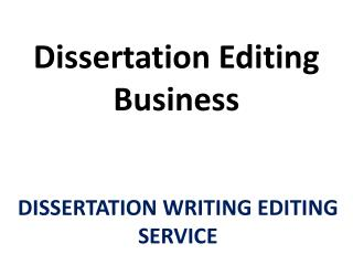 Premium Quality Dissertation Editing