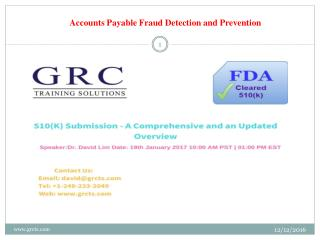 Accounts Payable Fraud Detection and Prevention
