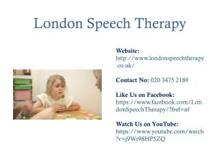 Treatment of Speech and Language Disorders in Children
