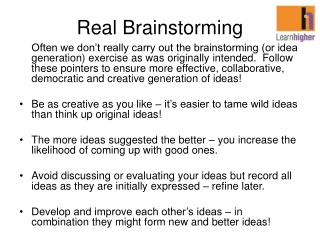Real Brainstorming