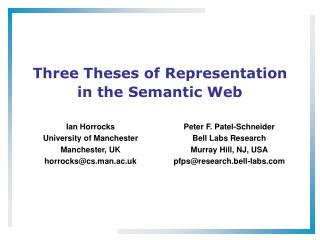 Three Theses of Representation in the Semantic Web