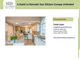 How to Remodel your Kitchen by Canopy Unlimited