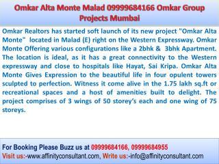 Omkar Alta Monte Malad East, Mumbai Project @ 09999684166
