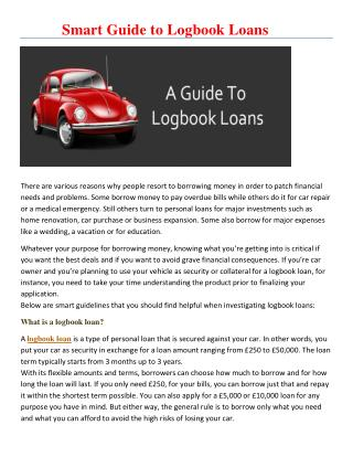 Smart Guide to Logbook Loans