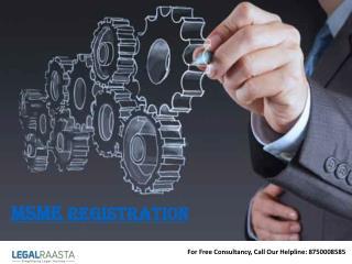 MSME / SSI Registration | Online | Legalraasta