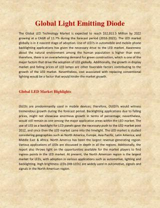 Global Light Emitting Diode