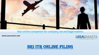 NRI ITR online filing | File income tax return with foreign income